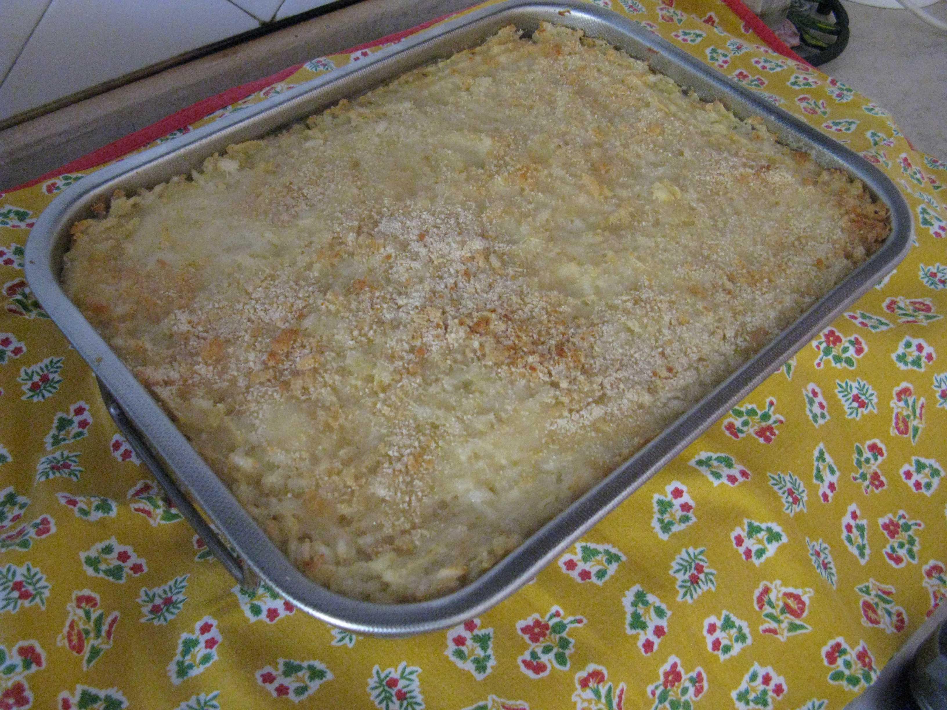 Tortino di patate, riso e prosciutto