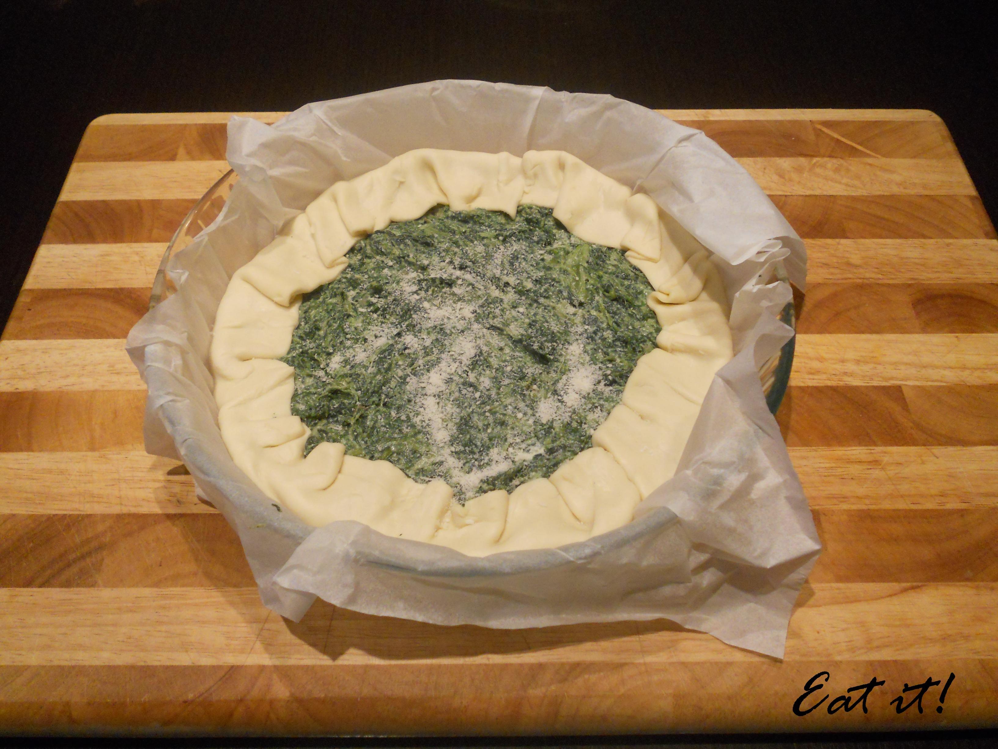 Torta salata tradizionale - Prima della cottura