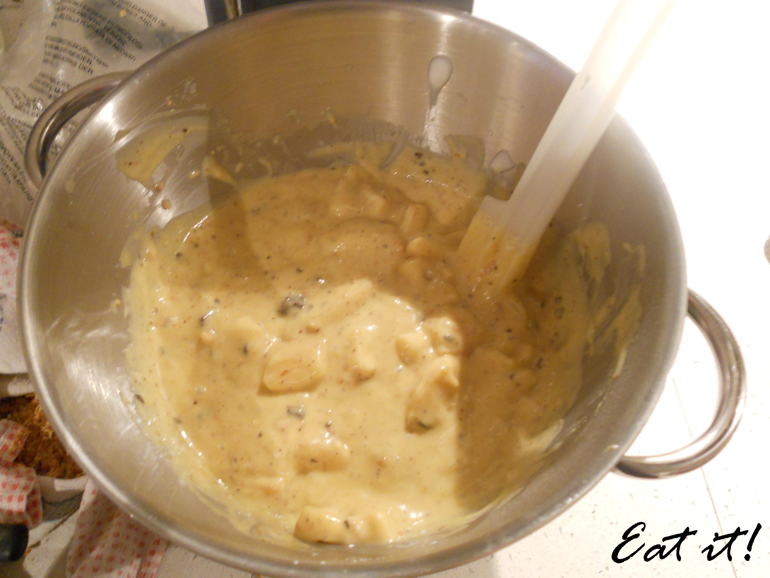 Torta pere, cioccolato e amaretti - Il composto