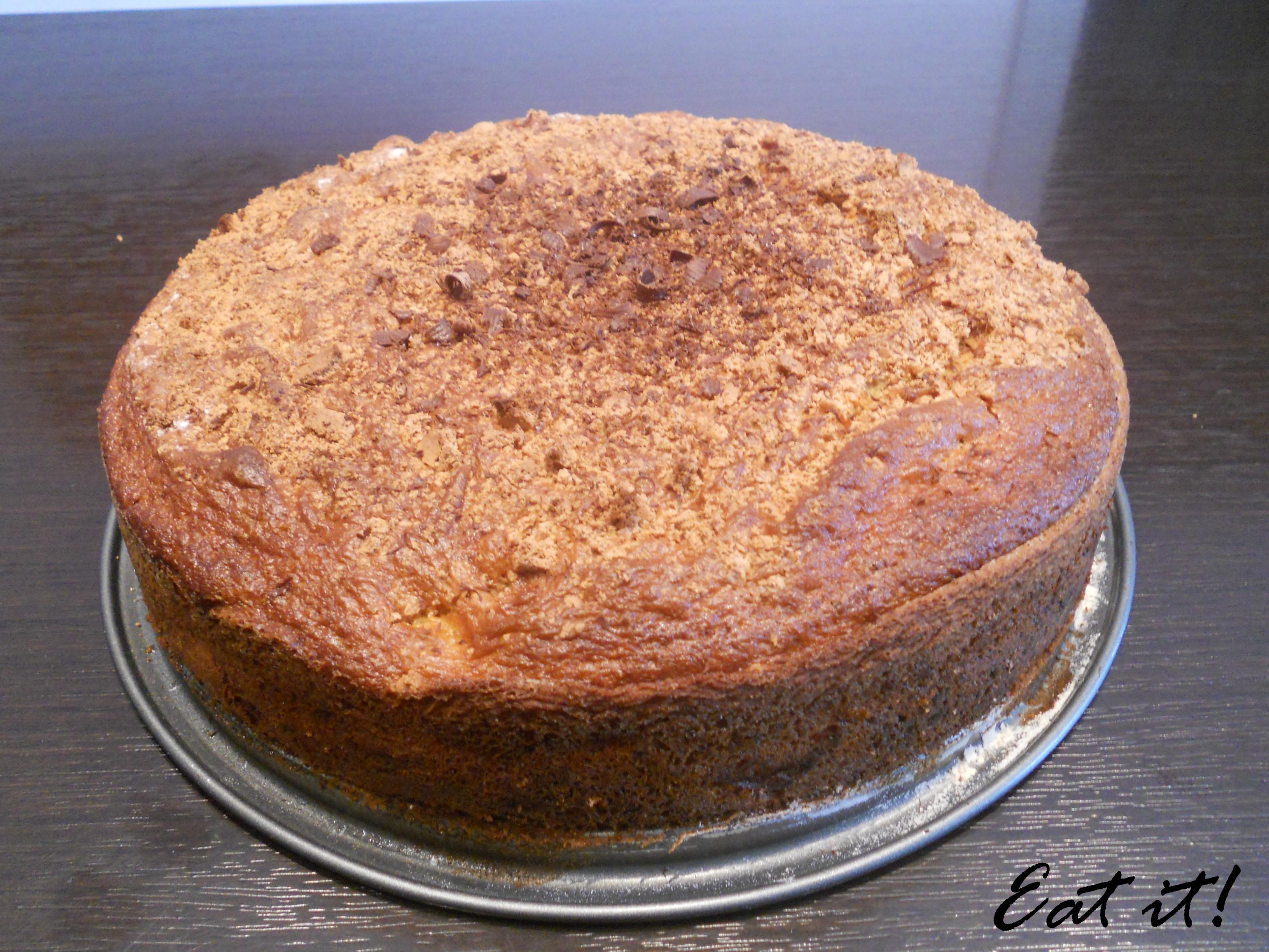 Torta pere, cioccolato e amaretti