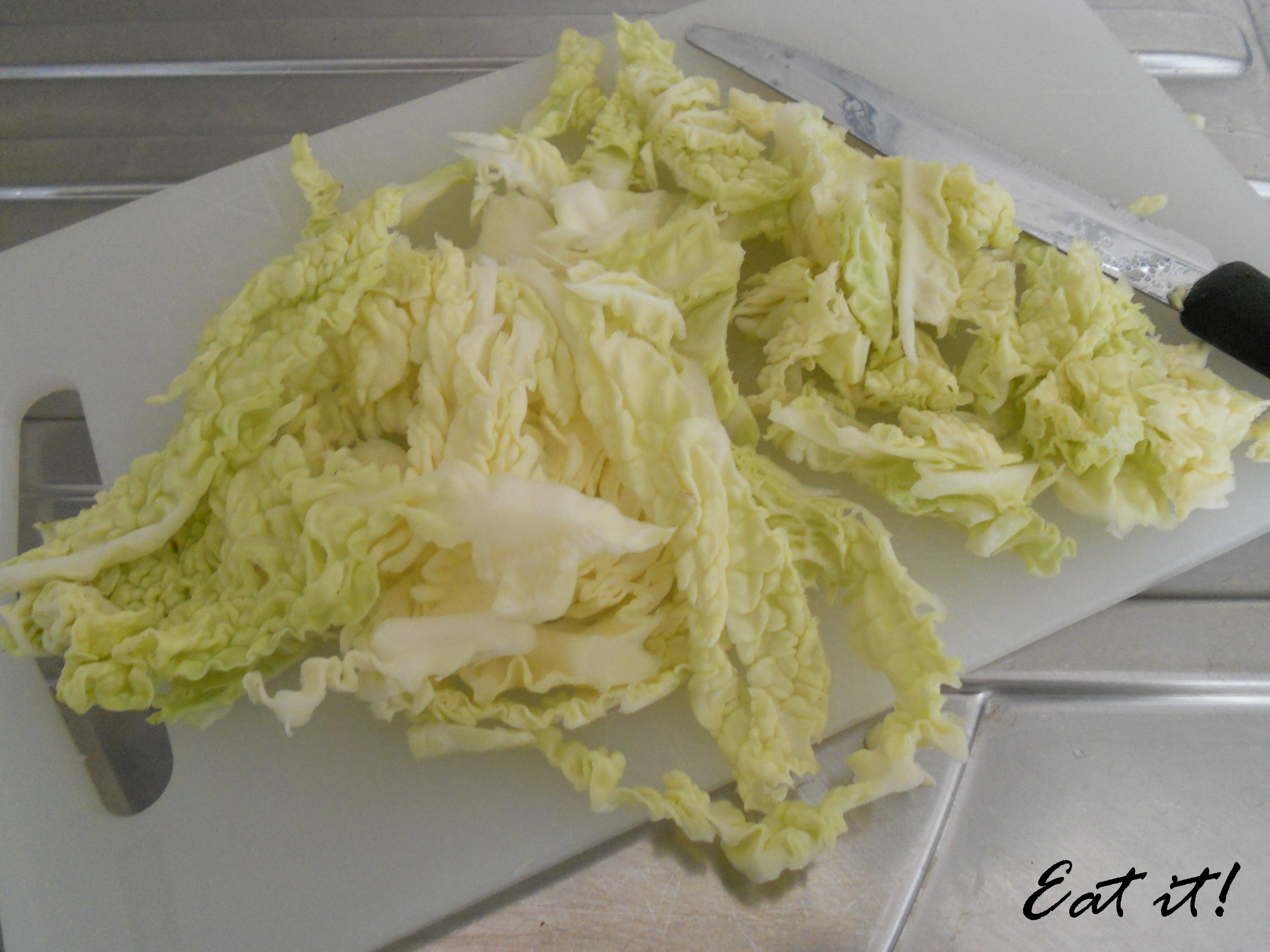Pasta e verza - Taglio la verza