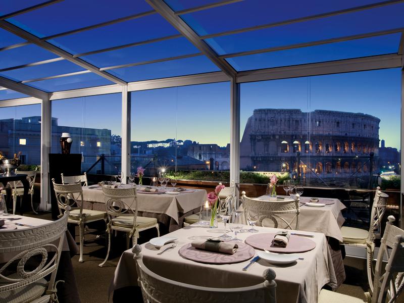 Il ristorante Aroma (da http://palazzomanfredi.com)