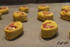 Girelle prosciutto e formaggio - Seconda lievitazione