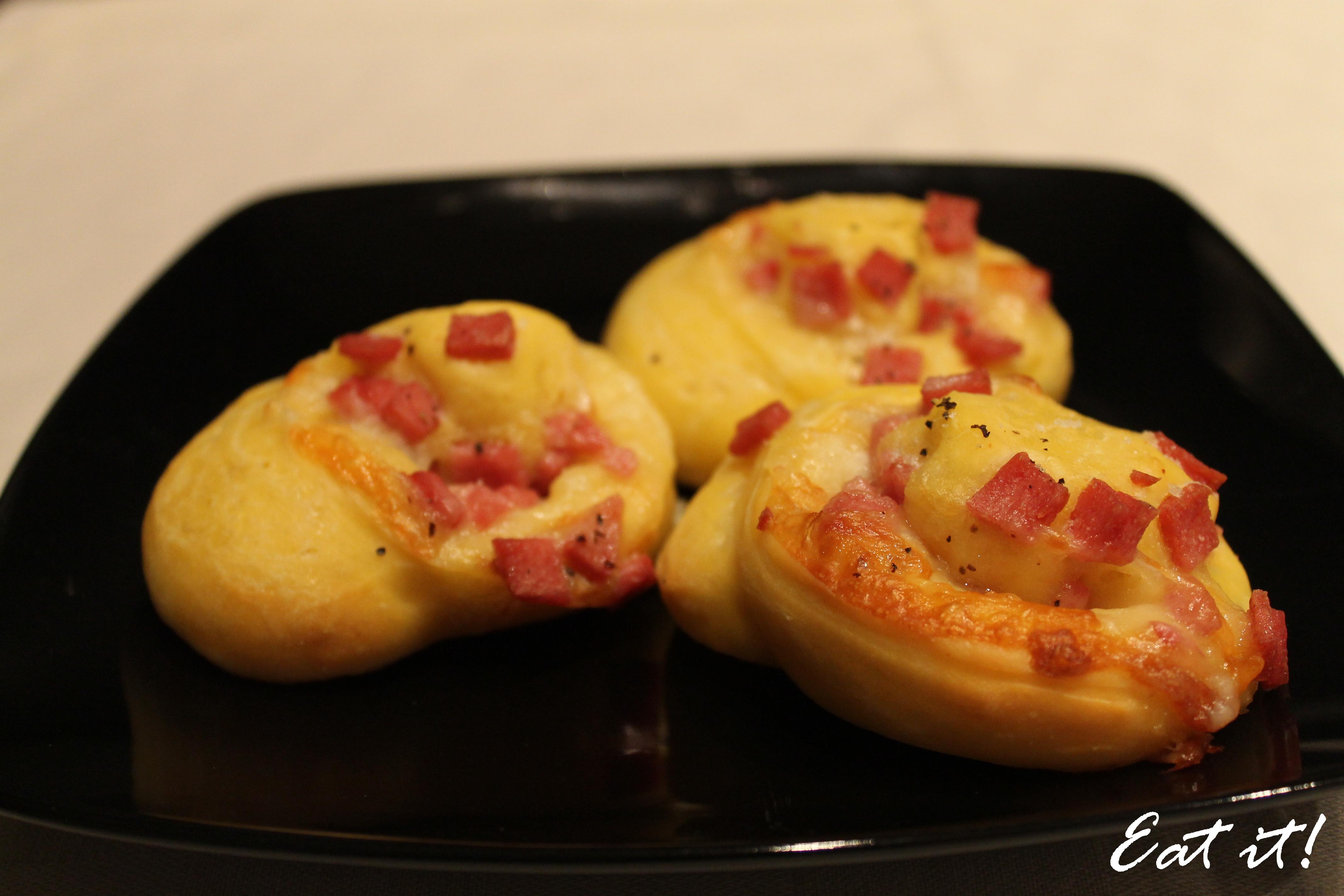 Girelle prosciutto e formaggio