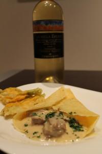 Crepe d'entrecote au Roquefort con La Bella Estate di Terre da Vino