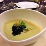 Crema di carciofi di Albenga, seppie al nero e limone