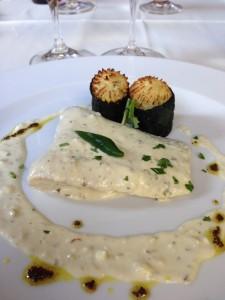Baccalà con salsa allo yogurt, cumino e semi di senape