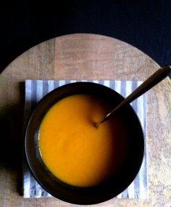 Zuppa carota arancia e zenzero