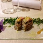Sandwich di triglia alle erbe, pomodori ed olive taggiasche