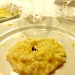 Risotto limone liquirizia al sale Maldon