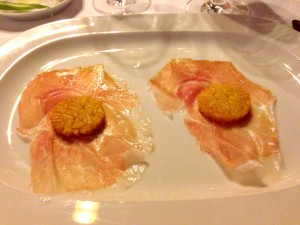 Riso al salto e culatello