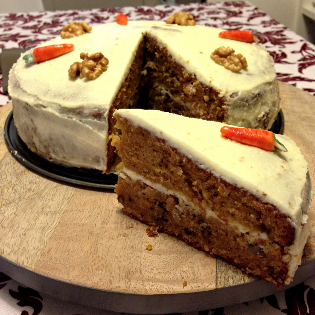 Carrot cake fetta