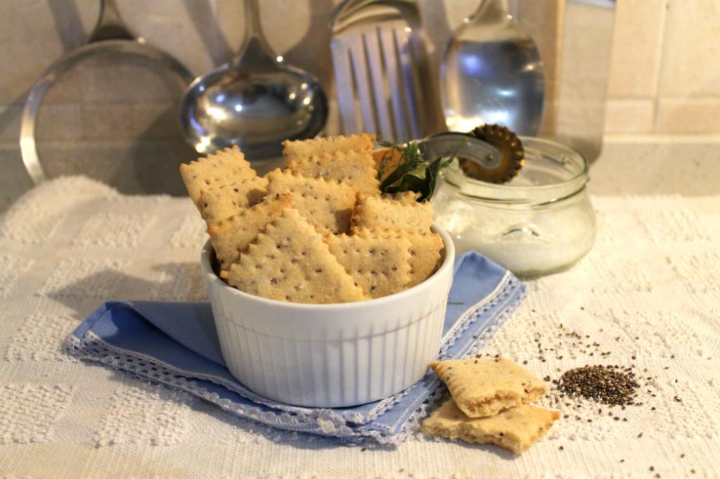Crackers con lievito madre