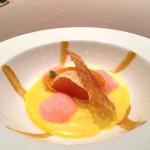 Mousse di zucca, arancia e zafferano