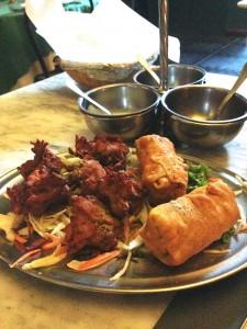 Antipasti - Bhaji e papad roll