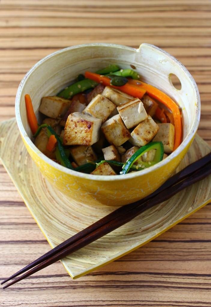 Tofu marinato alla salsa di soia