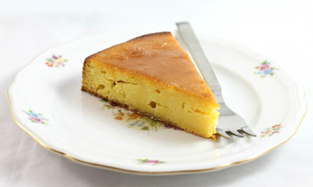 Torta all'arancia fetta