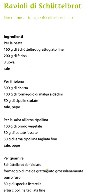 Ricetta ravioli - ingredienti