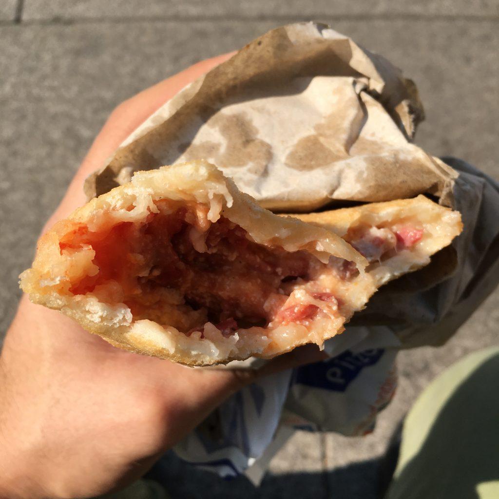 Il ripieno della pizza fritta di Zia Caterina