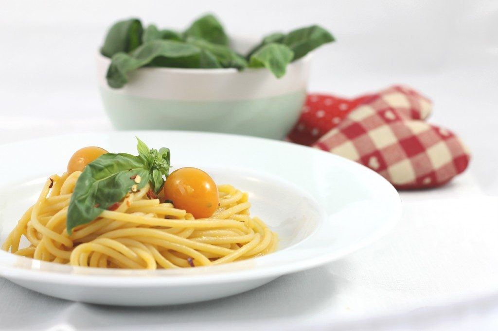 Spaghetti ai datterini gialli
