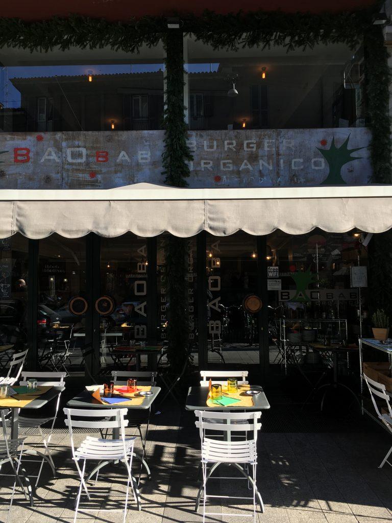 Esterno Baobab Organic Burger