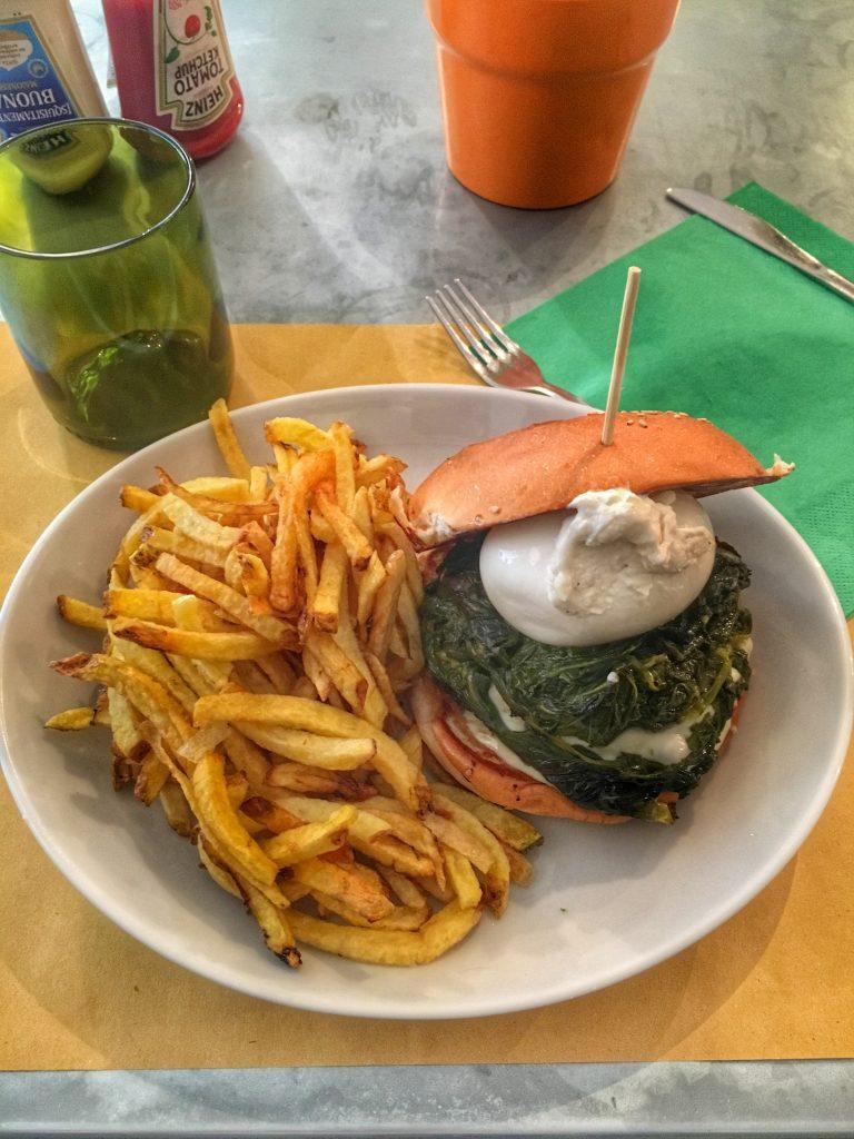 Hamburger burrata