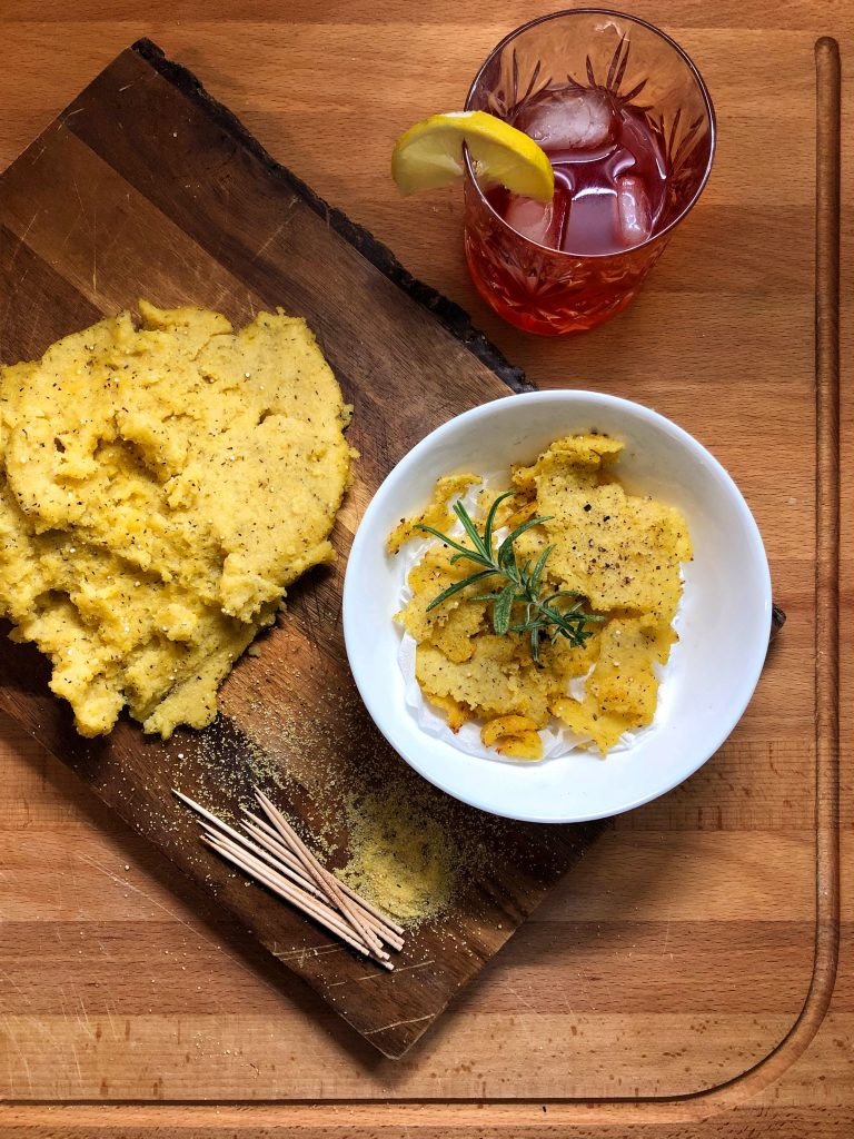 Chips di polenta light