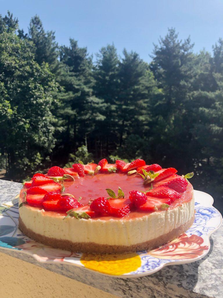 Cheesecake pistacchio e fragole