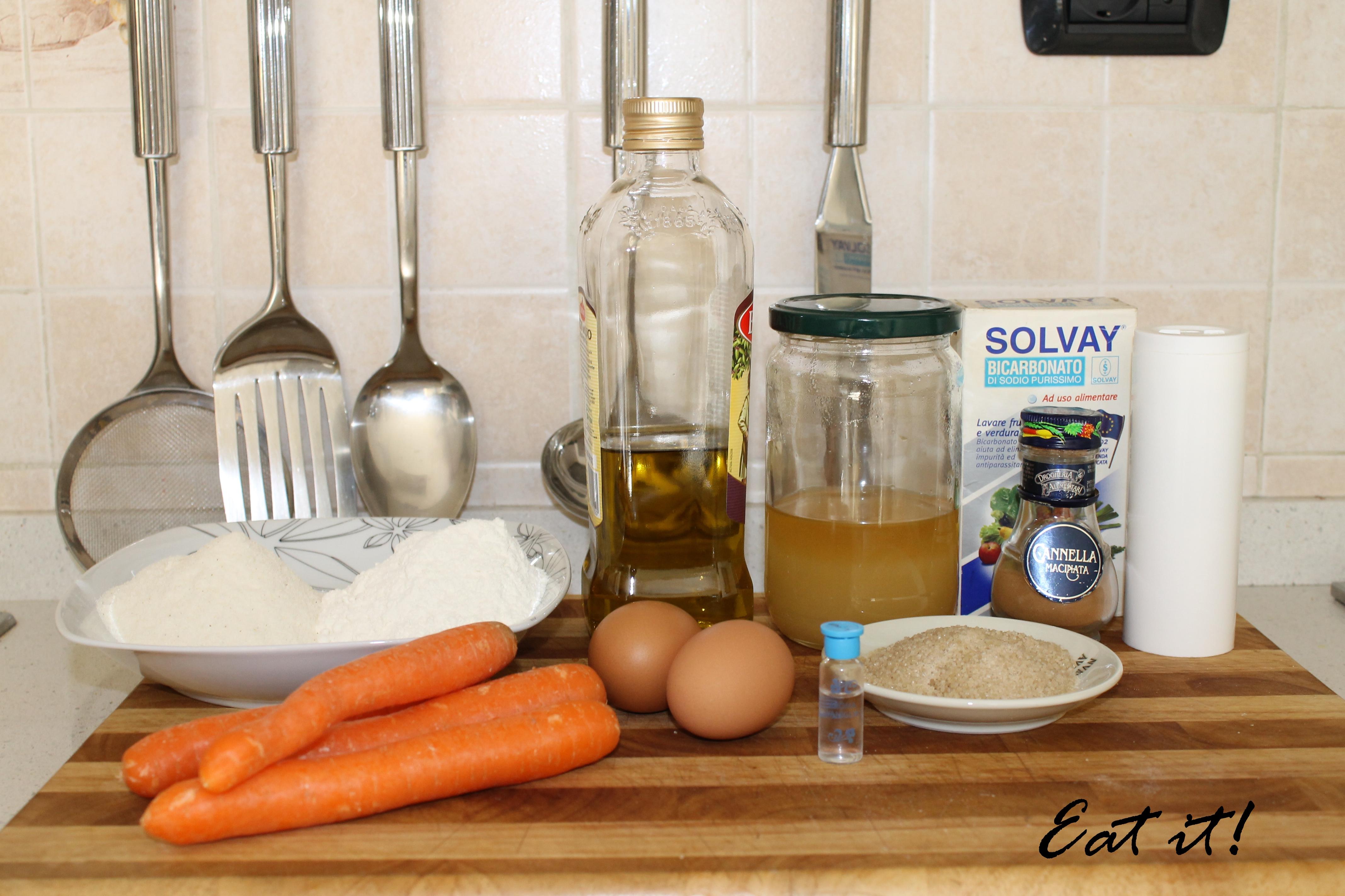 Carrot cake - ingredienti